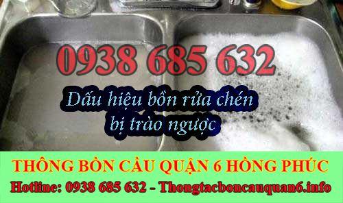 Thông tắc bồn rửa chén bát bị trào ngược LH : 0938685632