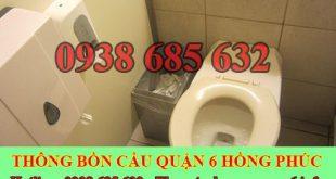 Thông bồn cầu bị tắc băng vệ sinh Quận 6 BH 5năm 0903737957