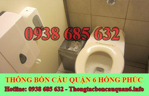 Thông bồn cầu bị tắc băng vệ sinh BH 5năm 0938685632