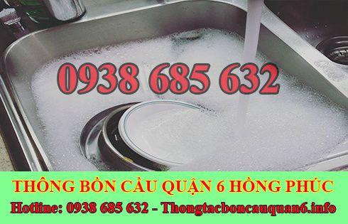 Thông tắc bồn rửa chén bát bị trào ngược lh:0938685632