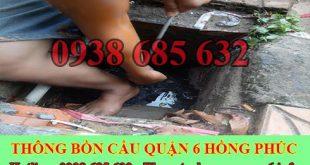 Sửa cống nghẹt Quận 6 giá rẻ 0903737957 bảo hành 5 năm