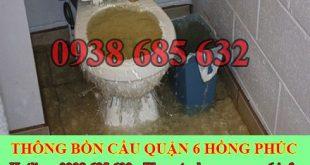 Thợ sữa bồn cầu toilet bị nghẹt Quận 6 giá rẻ 0935118326