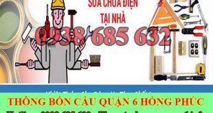 Thợ sửa chữa điện nước Quận 6 giá rẻ tại nhà 0903737957
