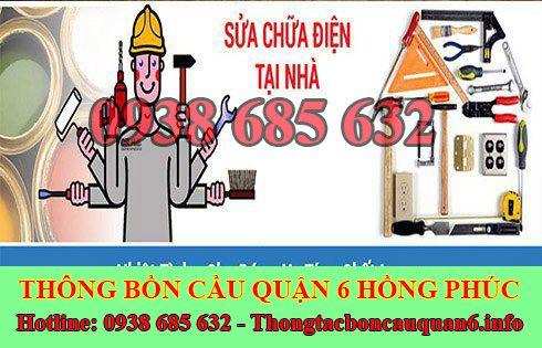 Thợ sửa chữa điện nước Quận 6 giá rẻ tại nhà 0938685632