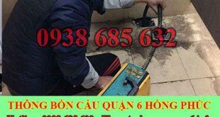 Thông đường ống nước bị tắc nghẹt Quận 6 giá rẻ 0903737957