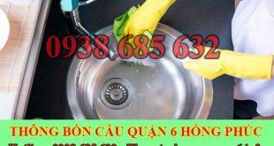 Thợ thông tắc bồn rửa mặt lavabo Quận 6 giá rẻ 0903737957