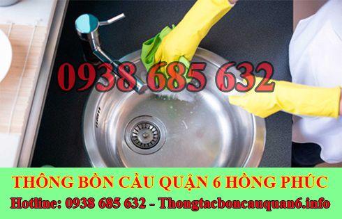 Thợ thông tắc bồn rửa mặt lavabo Quận 6 giá rẻ 0938685632