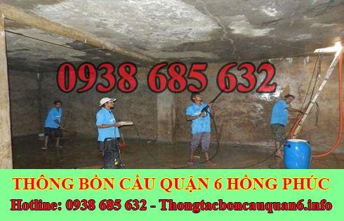 Bảng giá vệ sinh bể chứa nước ngầm Quận 6 giá rẻ 0938685632