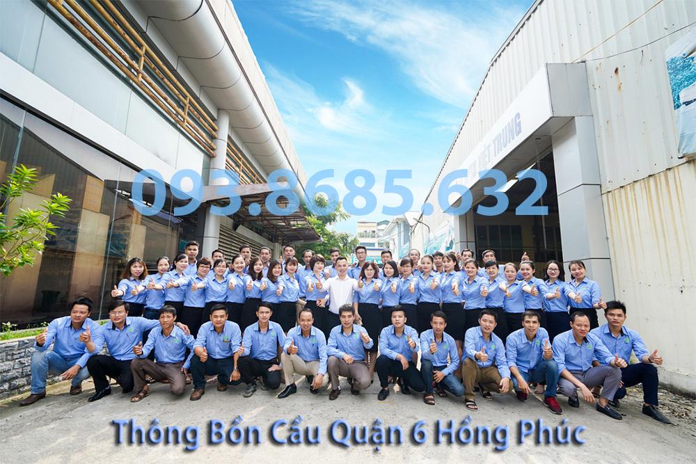 Đội Ngũ Công Ty Thông tắc bồn cầu quận 6 Hồng Phúc